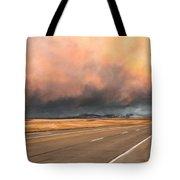 Cloudy Highway Tote Bag