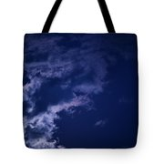 Cloudy Moon With Jupiter Tote Bag