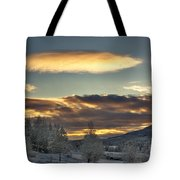 Cloudy Mothership Tote Bag