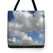Cloudy Mustard Tote Bag