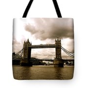 Cloudy Over Tower Bridge Tote Bag
