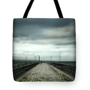 Cloudy Pier Tote Bag