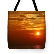 Cloudy Sunset On Lake Ontario - 27 August 2018 Tote Bag