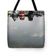 Cloudy Water At Barton Marina Tote Bag