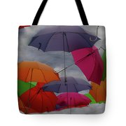 Cloudy With A Chance Of Umbrellas Tote Bag