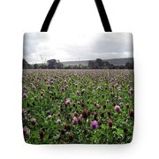 Clover Field Wiltshire England Tote Bag