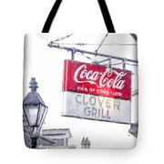 Clover Grill Coke Sign Tote Bag