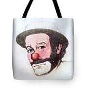 Clown Emmett Kelly Tote Bag