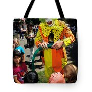 Clown Entertaining Kids Tote Bag