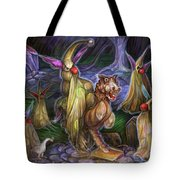 Clown Ghosts Play In A Graveyard Tote Bag