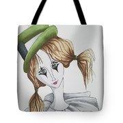 Green Hat Clown Tote Bag
