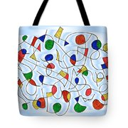 Clown Memory Cells Blue Tote Bag