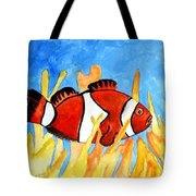 Clownfish Marine Sealife Art Print Tote Bag