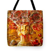 Clowns With Sunflowers Tote Bag