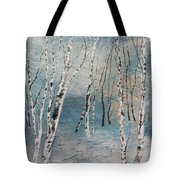 Cluster Of Birches Tote Bag