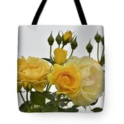 Cluster Of Yellow Roses Tote Bag