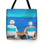 Clyde And Elma At The Beach Tote Bag