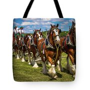 Budweiser Clydesdale Horses Tote Bag