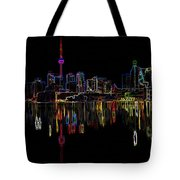 Cn Tower Outline Tote Bag