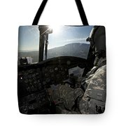 Co-pilot Flying A Ch-47 Chinook Tote Bag