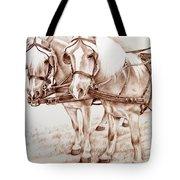 Coach Horses Tote Bag
