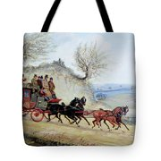 Coaching Oil Of A Royal Mail Coach Crossing Landscape Tote Bag