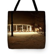 Coady International Institute Winter Night Nova Scotia Tote Bag