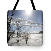 Coal Fired Power Plant In Winter Tote Bag