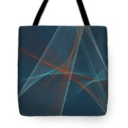 Coast Computer Graphic Line Pattern Tote Bag