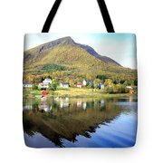 Coast Of Norway Reflections Tote Bag