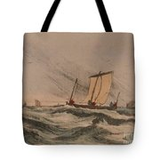 Coast Stormy Sea Tote Bag