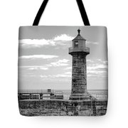 Coast - Whitby Lighthouse Tote Bag
