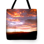 Costa Rican Mountain Valley Sunset Tote Bag