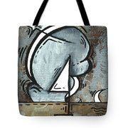 Coastal Art Contemporary Sailboat Painting Whimsical Design Silver Sea I By Madart Tote Bag
