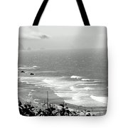 Coastal Bandw Tote Bag