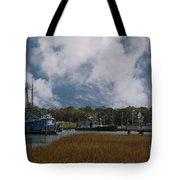 Coastal Island Town Tote Bag