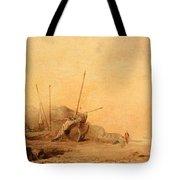 Coastal Landscape With Fisherfolk Tote Bag