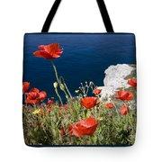 Coastal Poppies Tote Bag