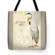 Coastal Waterways - Great Blue Heron Tote Bag