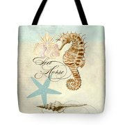 Coastal Waterways - Seahorse Rectangle 2 Tote Bag