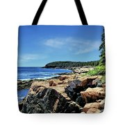 Coastline And Otter Cliff 1 Tote Bag