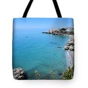 Coastline Of Nerja-spain Tote Bag