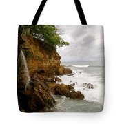 Coastline Waterfall Tote Bag