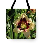 coat and tie Daylily Tote Bag