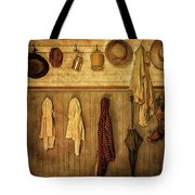 Coat Room At The Old Schoolhouse Tote Bag