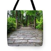 Cobblestone Path To Wood Bridge Tote Bag