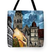 Coburg Germany Castle Painting Art Print Tote Bag
