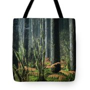 Cobwebs And Tree Trunks Tote Bag