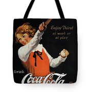 Coca-cola Ad, 1923 Tote Bag by Granger
