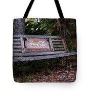 Coca Cola Bench Tote Bag